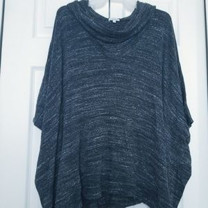 XL Splendid Cowl Neck Sweater Heathered